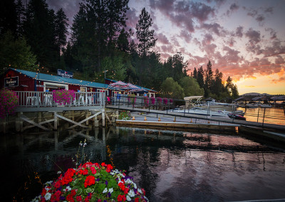 The Boathouse Restaurant at Sunset